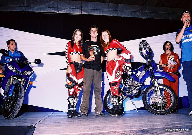 Award of an acknowledgement at the Expo Moto
