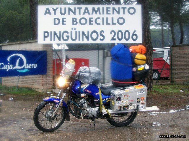 Pingüinos is the largest motorcycle meeting in winter in Europa.