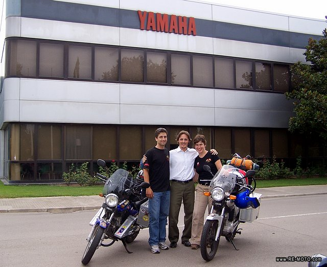 With Alex Cottet of Yamaha Motor Spain. Thanks for the support!