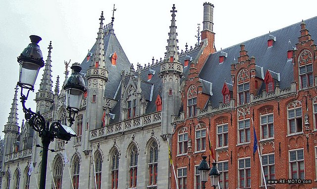 Townhall and post office of Bruges.