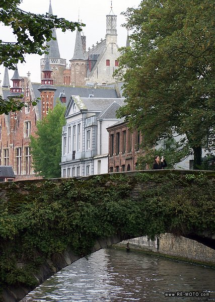 The city of Bruges counts more than 50 bridges.