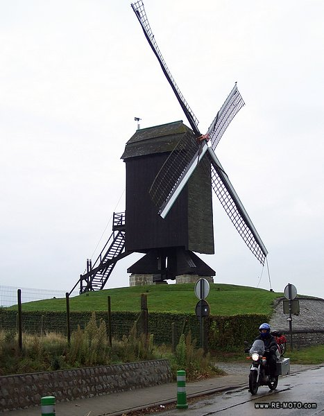 Old well-kept mindmills can be found in Belgium.