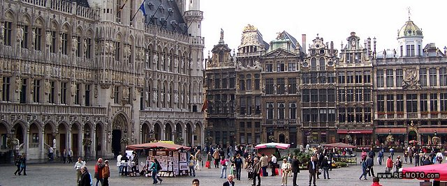 Brussels' main square is one of the most famous main squares of Europe because of its beauty and decoration.