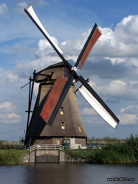 Windmill in Kinderdijk.