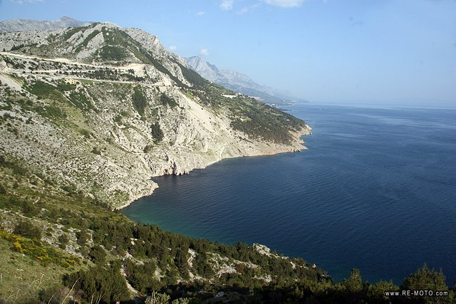 From Split we drove along the winding coast of the Adriatic Sea towards Makarska.