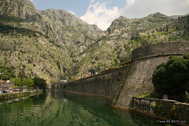We reached the walled city of Kotor, a world heritage site.