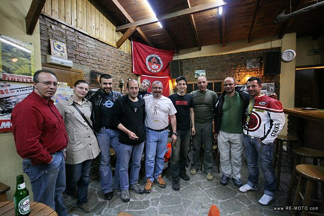 We visited the motorcycle club of Thessaloniki.