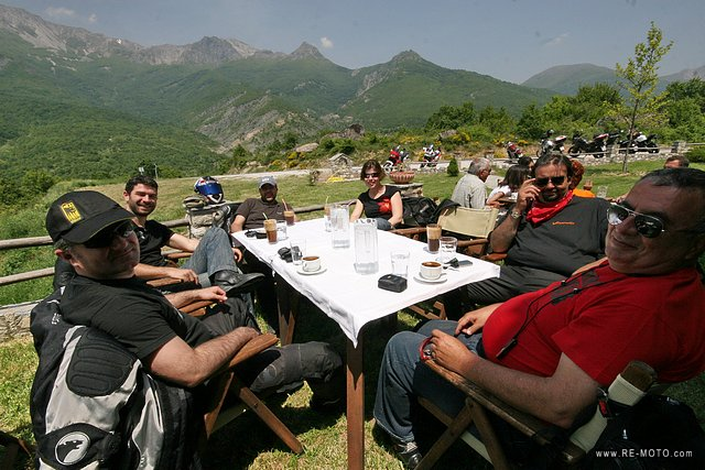 The MyBike group invited us out on a day trip. We rode through the mountains on the motorbikes all day.