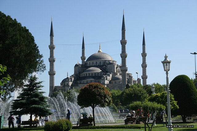 The Blue Mosque or Sultan Ahmed Mosque in Istanbul.