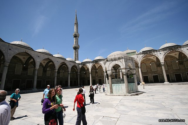 Inner patio of the Blue Mosque or Sultan Ahmed Mosque