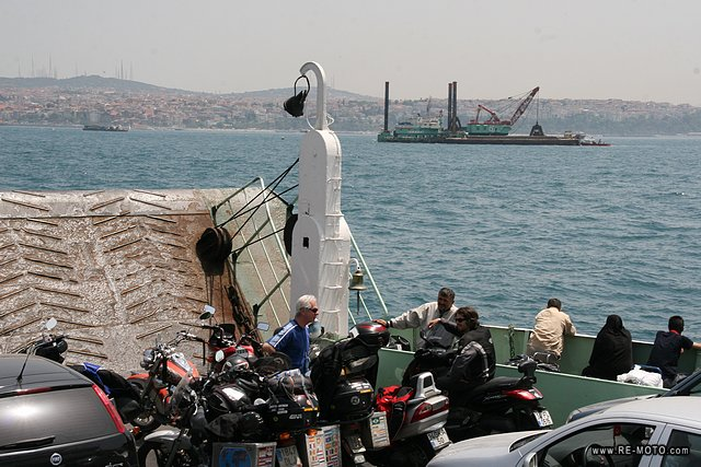 Crossing the Bosporus Canal to set foot on Asian soil for the first time.