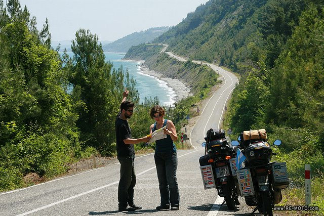 Checking the route. We continue along the coast of the Black Sea.