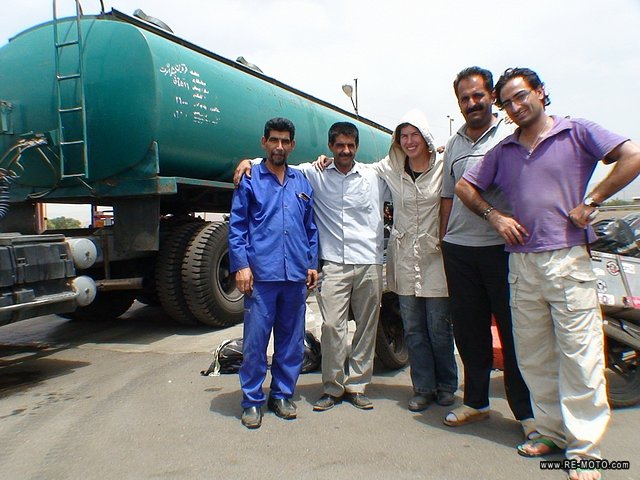 We're out of petrol again but this time they filled our tanks directly from the petrol truck. In Iran, petrol is cheaper than water.