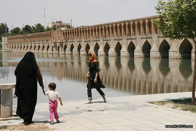 The Si-o-Seh bridge in Esfahan.