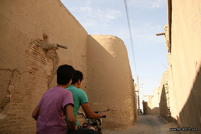 Taking a walk along some of the back alleys of Esfahan.
