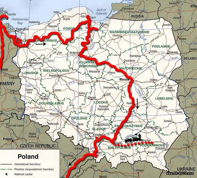 polonia auschwitz mapa Mapa de Polonia polonia auschwitz mapa